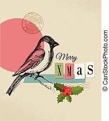 weinlese, weihnachtskarte, gruß