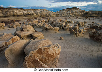 Weird Bisti Wilderness - Very strange rock formations known...