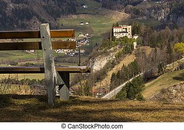 Weissenstein Castle in ski resort Matrei in Osttirol, Austria