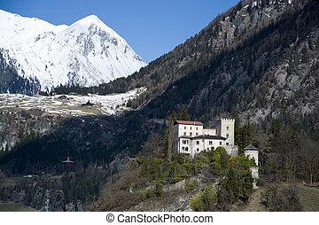 Weissenstein Palace, build round about 900 years ago, in Matrei, East Tyrol, Austria.