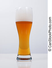 A glass of German weiss weizen beer