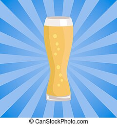 Weizen Glass of Beer Isolated on White Background