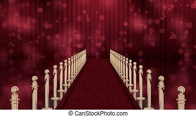 wejście, chroma, czerwony, klucz, dywan