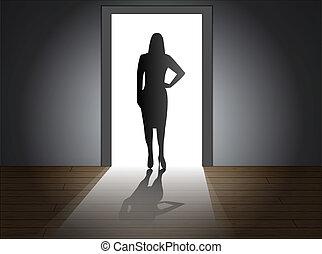 wejście, samica
