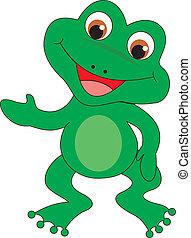 wektor, żaba