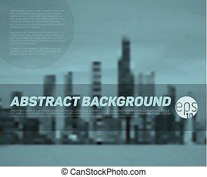 wektor, abstrakcyjny, miasto, tło