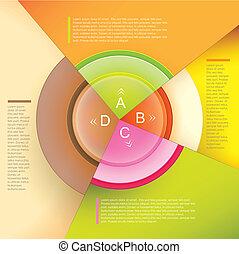 wektor, abstrakcyjny, papier, 3d, infographics