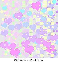wektor, abstrakcyjny, tło, z, serca