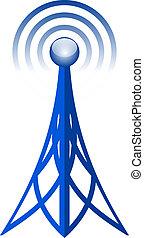 wektor, antena, ikona