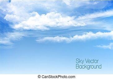 wektor, błękitne niebo, tło, z, przeźroczysty, clouds.