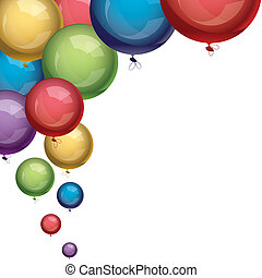 wektor, balony