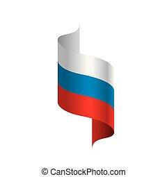wektor, bandera, ilustracja, rosja