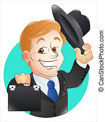 wektor, bankier, ilustracja