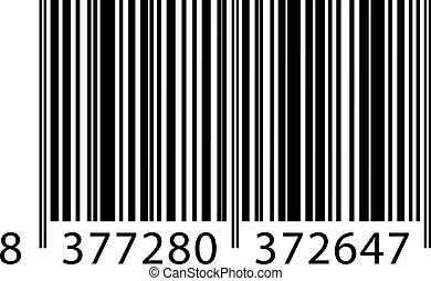 wektor, barcode, ilustracja