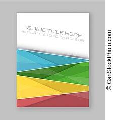 wektor, barwny, banner., abstrakcyjny, lotnik, projektować, broszura, zbiorowy, albo, szablon