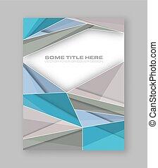 wektor, barwny, banner., abstrakcyjny, polygonal, lotnik, projektować, broszura, zbiorowy, albo, szablon