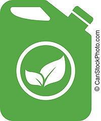 wektor, biofuel, ikona