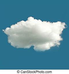 wektor, chmura, tło