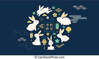 wektor, chorągiew, tło, afisz, jesień, szczęśliwy, festival., średni