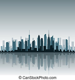 wektor, cityscape
