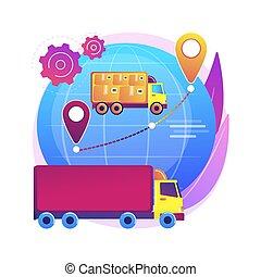 wektor, collaborative, logisty, illustration., pojęcie, abstrakcyjny