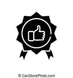 wektor, czarnoskóry, symbol, glyph, pojęcie, wielki, poznaczcie., rozłączenie, ikona, ilustracja, płaski