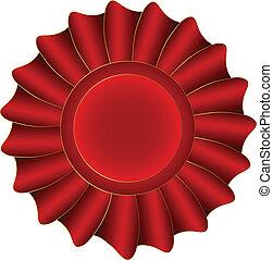 wektor, czerwony, etykieta