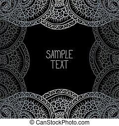 wektor, czuć się, skwer, chorągiew, próbka, ułożyć, text., abstrakcyjny, twój, używany, miejsce, może, tło, etniczny, plemienny, card.