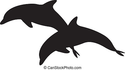 wektor, delfin