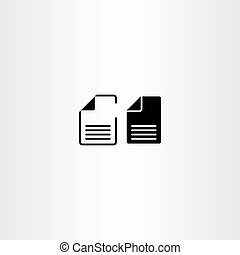 wektor, dokumenty, papier, projektować, rząd, czarnoskóry, ikona
