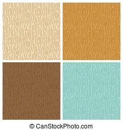 wektor, drewniany, seamless, wzory