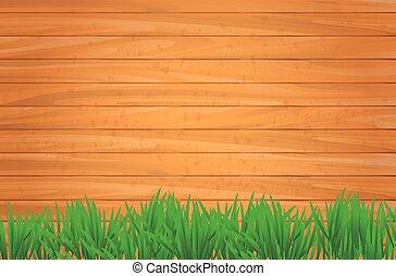 wektor, drewniany, tło