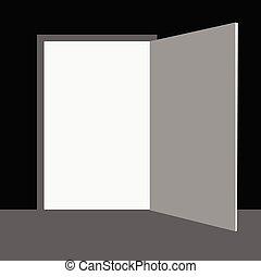 wektor, drzwi, ilustracja
