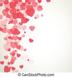 wektor, dzień, karta, list miłosny