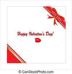 wektor, dzień, karta, valentine
