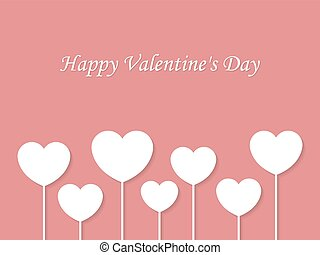 wektor, dzień, tło, valentine