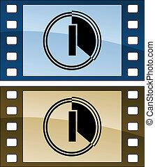 wektor, film, obnaża