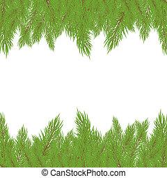wektor, fur-tree., boże narodzenie, ilustracja