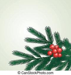 wektor, gałązka, drzewo