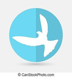 wektor, gołębica, pokój, ilustracja