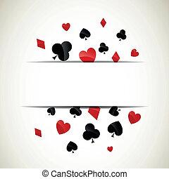 wektor, grać kartę garnitury