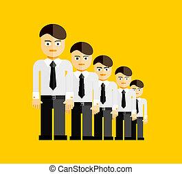wektor, grupa, biznesmeni