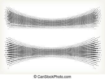 wektor, halftone, dots.