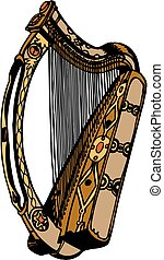 wektor, harfa