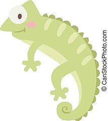 wektor, illustration., kameleon