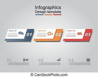 wektor, illustration., layout., infographic, szablon, ...