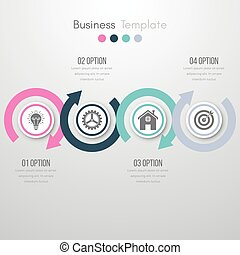 wektor, ilustracja, infographics