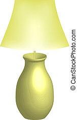 wektor, ilustracja, od, lampa
