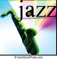 wektor, jazz., ilustracja