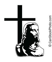 wektor, jezus